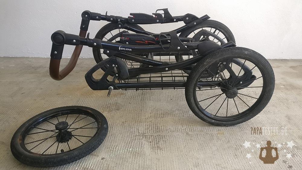 Der Knorr Classico mit einem demontierten Rad.