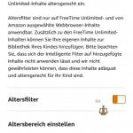 Der Altersfilter für Amazon FreeTime Unlimited