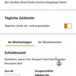 Zeitlimit-Einstellung bei Amazon FreeTime Unlimited