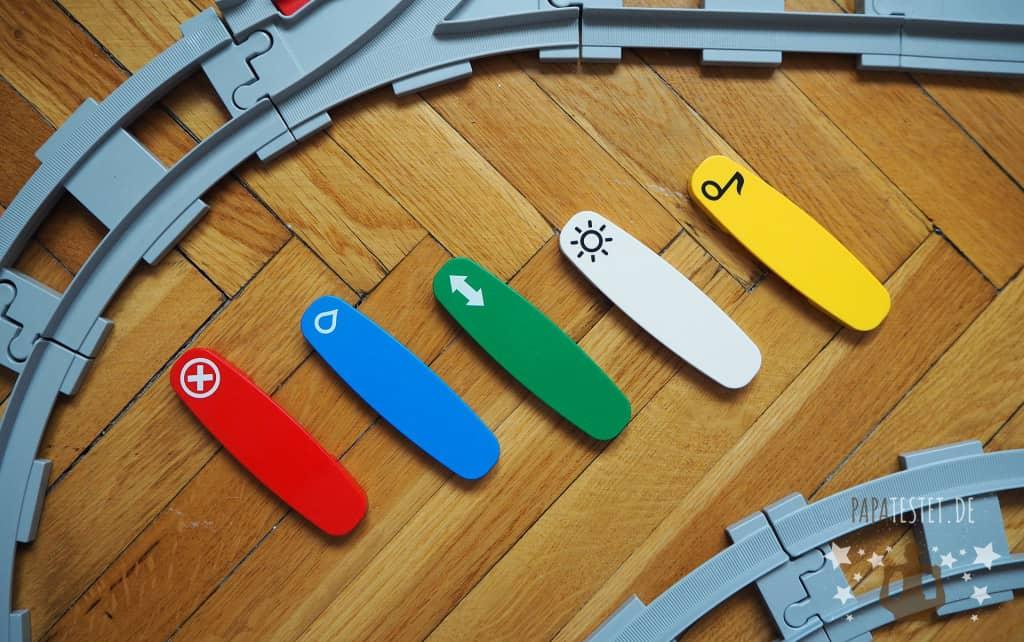 Die Funktionssteine (Action Bricks) für die Duplo Eisenbahn