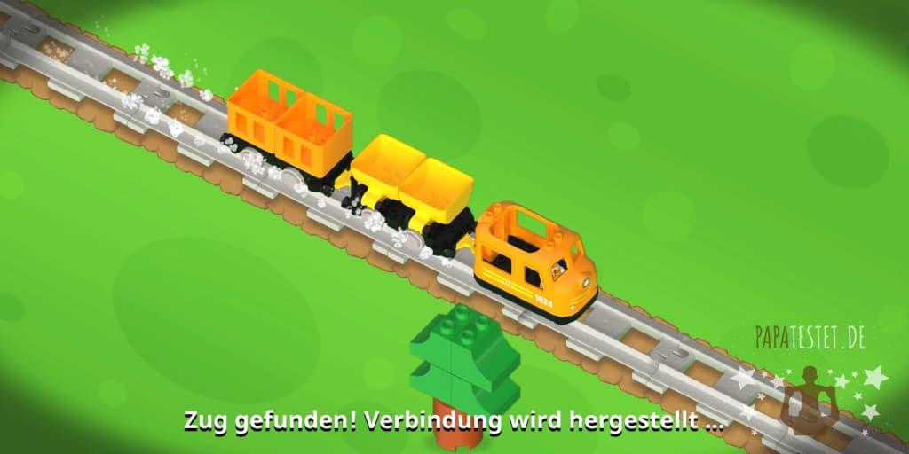 Zug gefunden! Verbindung wird hergestellt