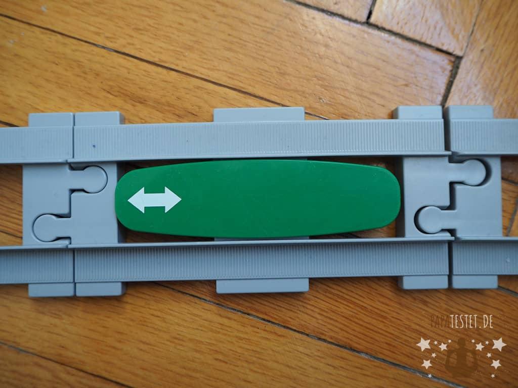 Der grüne Funktionsstein der Duplo Bahn