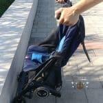 Tipp: Der Reisebuggy lässt sich am Boardstein einfacher zusammenklappen