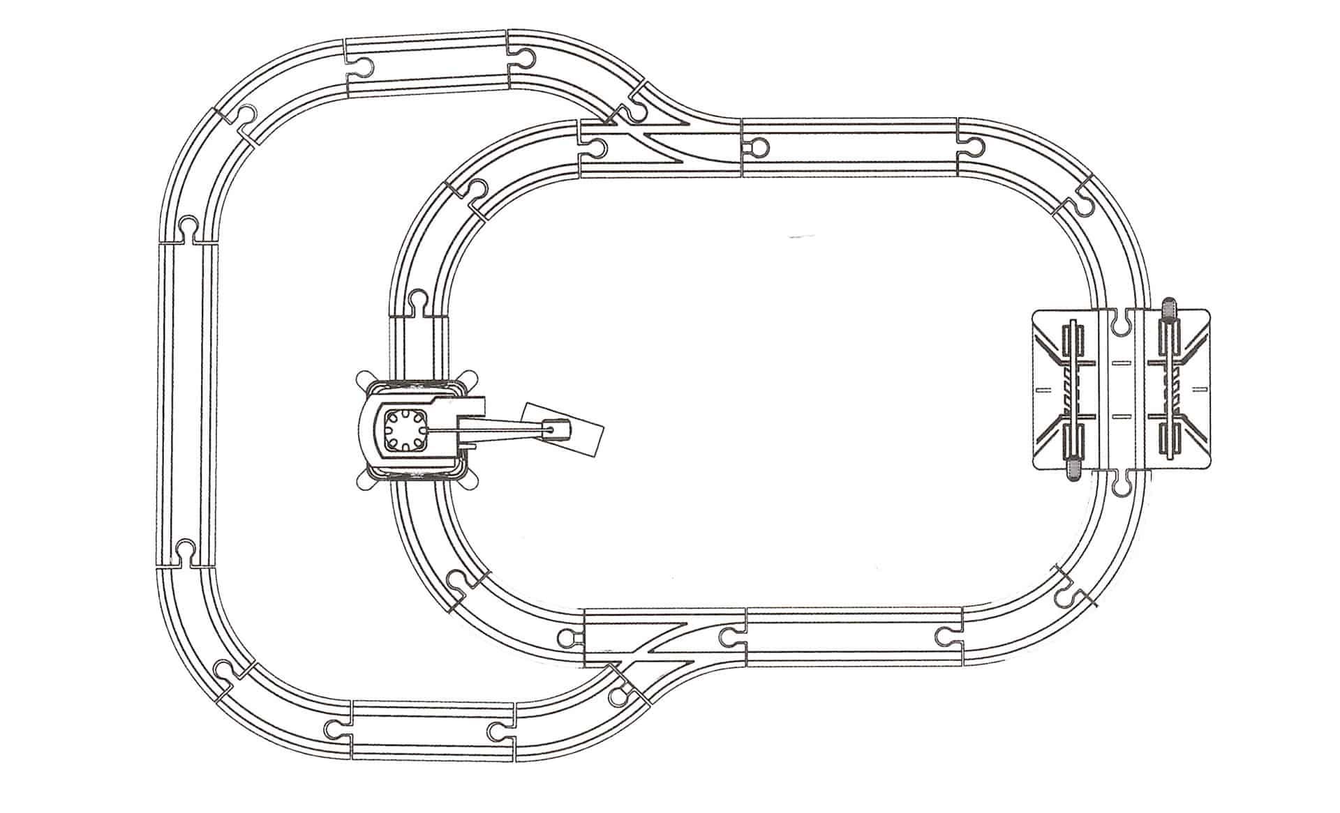 Strecke-Aufbauplan der Hape Eisenbahn