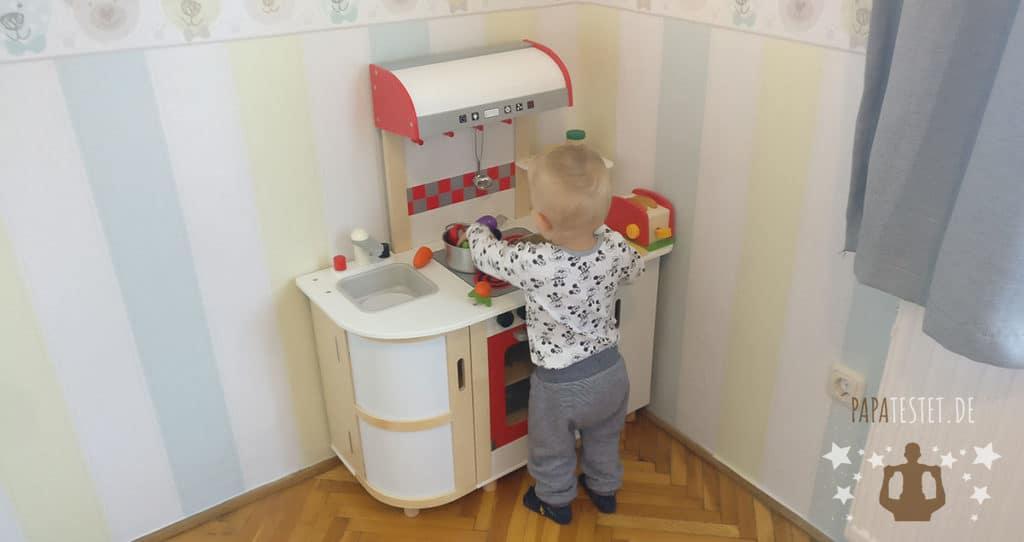 Der Hape Küchentraum Test durchgeführt von Papa und Sohn