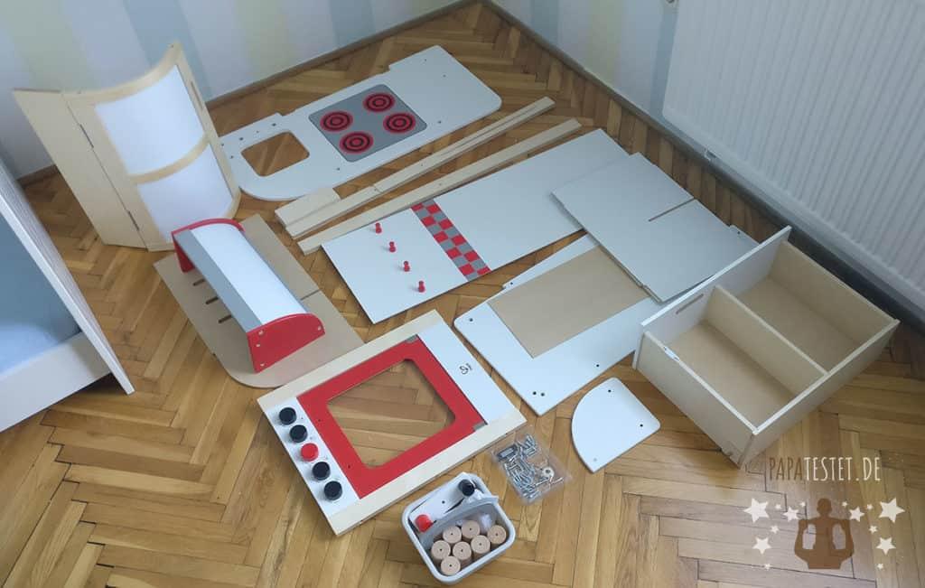 Die Spielküche Hape Küchentraum in Einzelteile