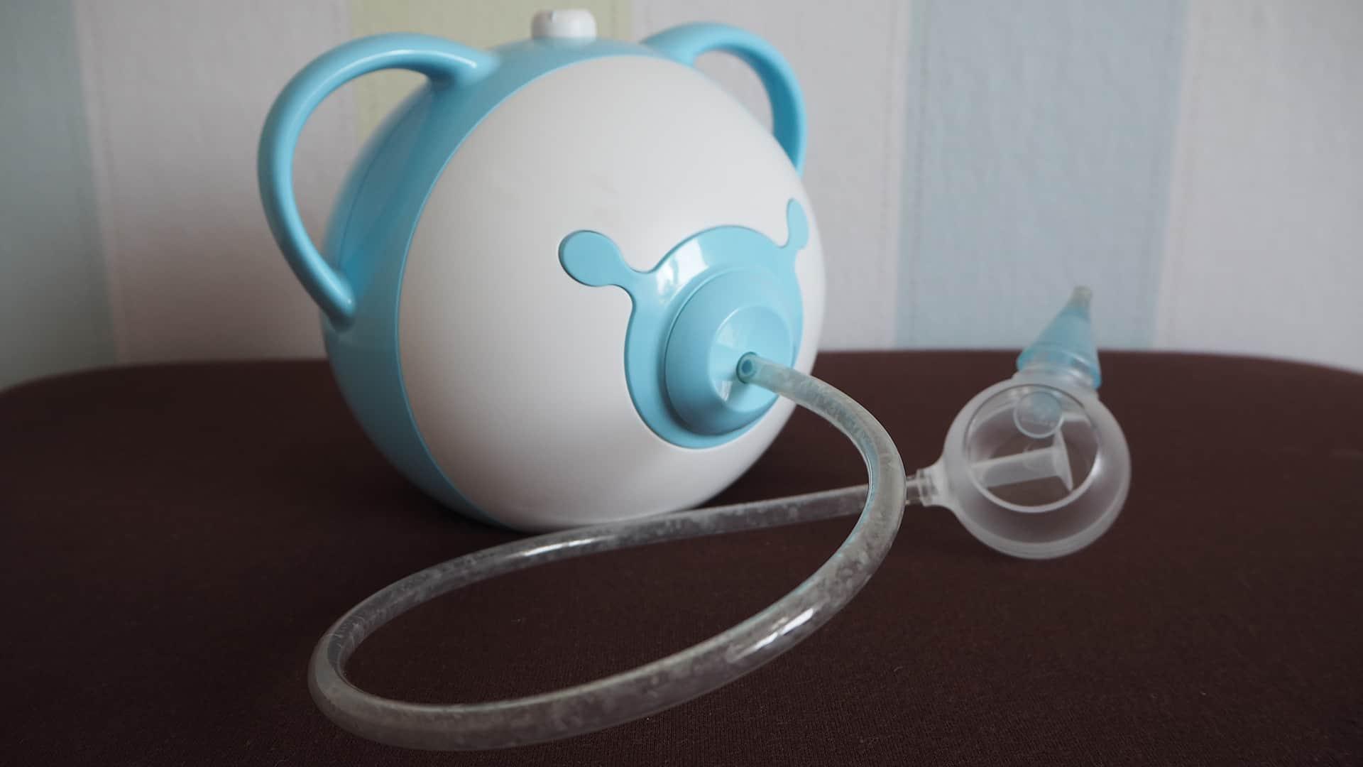 Der Testsieger Nosiboo Pro in Blau im Nasensauger Test