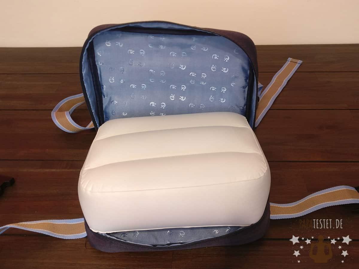 Luftkissen in der Sitzerhöhung von Roba